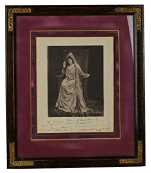 Signed framed photo of Sarah Bernhardt