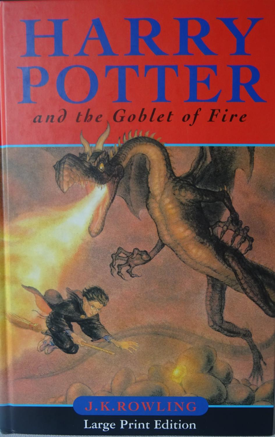 Harry Potter Book Goblet Of Fire ~ Harry potter and the goblet of fire by rowling j k