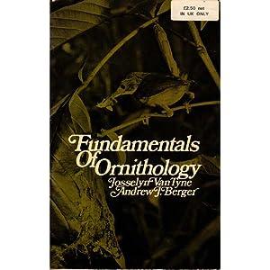 Fundamentals of Ornithology: Van Tyne, Josselyn;