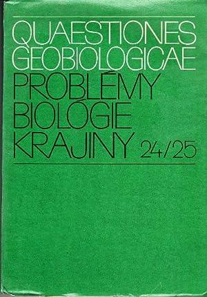 Quaestiones geobiologicae. Priblemy biologie krajiny.