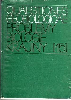 Grundsätze des biologischen Landschaftsplanes als Unterlagen für: M. Ruzicka, J.