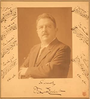 Large Cabinet photograph, SIGNED, with musical Quotations: Herbert, Victor
