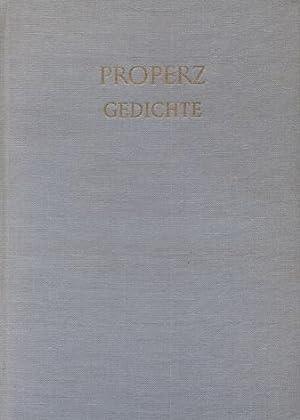 Gedichte : lat. u. dt. [Properz Gedichte]: Propertius, Sextus: