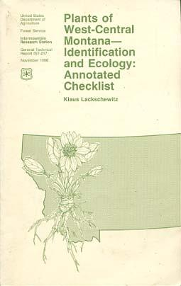 Plants of west-central Montana - identification and: Lackschewitz, Klaus: