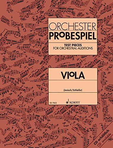 Test Pieces for Orchestral Auditions Violin Band 1 violin 9790001081382