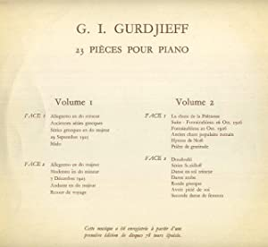 23 PIÈCES POUR PIANO: VOLUME II: Gurdjieff, G.I.
