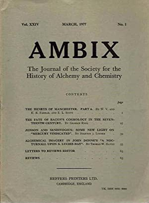 AMBIX, VOL. XXIV; The Journal of the: Damon, S. Foster;
