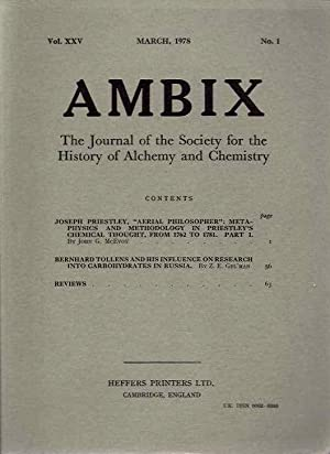 AMBIX, VOL. XXV; The Journal of the: McEvoy, John G.;