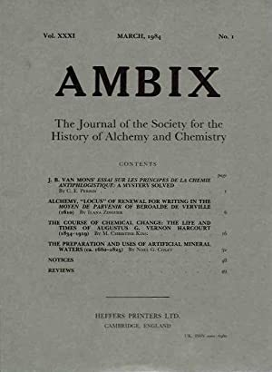 AMBIX, VOL. XXXI; The Journal of the: Perrin, C.E.; Ilana