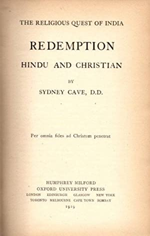 REDEMPTION; Hindu and Christian