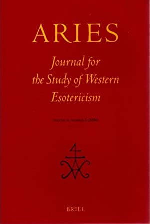 ARIES: JOURNAL FOR THE STUDY OF WESTERN ESOTERICISM; Volume 1, Number 1