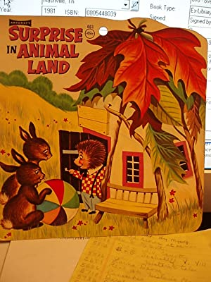 Surprise in Animal Land: Saalfield Publishing Co.