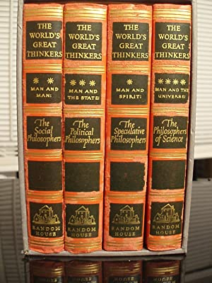 The World's Great Thinkers (4 Book Boxed set): COMMINS, Saxe & LINSCOTT, Robert N., Editors