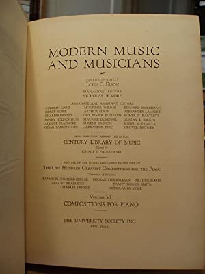 Modern Music and Musicians, Compositions for the Piano - Vol. 6: Elson, Louis C., Ed.