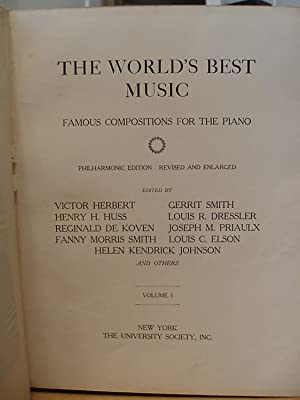 The World's Best Music, Famous Compositions for the piano - Vol. 1: Herbert, Victor, Elson, ...