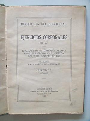 EJERCICIOS CORPORALES. Reglamento de gimnasia alemán para el ejército y la armada del...