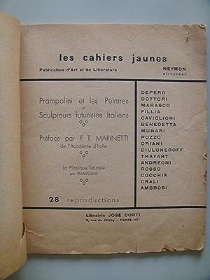 LES CAHIERS JAUNES. Publication d¿Art et de: Marinetti, Dottori, Marasco,