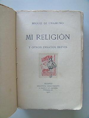 MI RELIGIÓN y otros ensayos breves.: UNAMUNO Miguel de