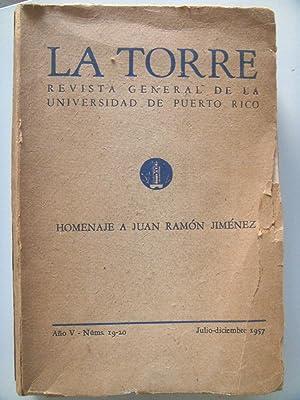 HOMENAJE A JUAN RAMÓN JIMÉNEZ. LA TORRE.: Alfonso Reyes, Jorge