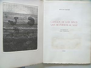 CANCION DE LOS NIÑOS QUE SE FUERON AL MAR.: Nicolás Olivari