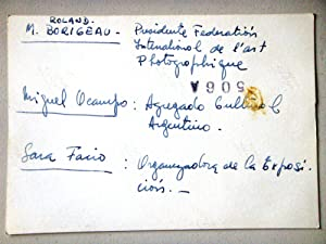 Miguel Ocampo Sara Facio Roland Borigeau [Fotografía]: Miguel Ocampo Sara Facio Roland ...