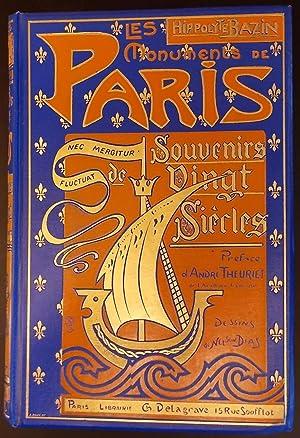 Les monuments de Paris. Souvenirs de vingt siècles.: BAZIN (Hippolyte)