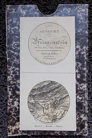 Aussicht von Weissenstein auf dem Jura, Cant. Solothurn. Vue des Alpes depuis l'Hôtel ...