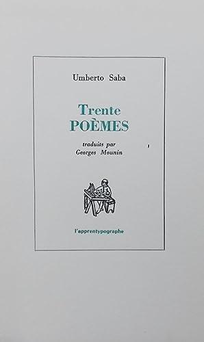 Trente poèmes.: SABA (Umberto)