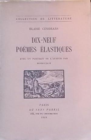 Dix-neuf poèmes élastiques.: CENDRARS (Blaise)