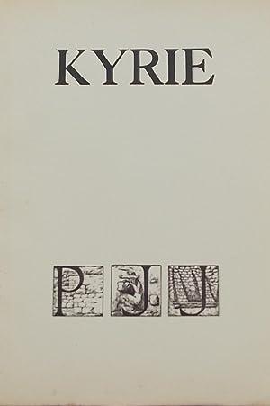 Kyrie,: JOUVE (Pierre Jean)