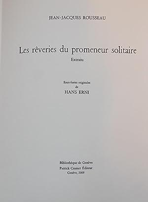 Les rêveries du promeneur solitaire. Extraits.: ERNI] - ROUSSEAU (Jean-Jacques)