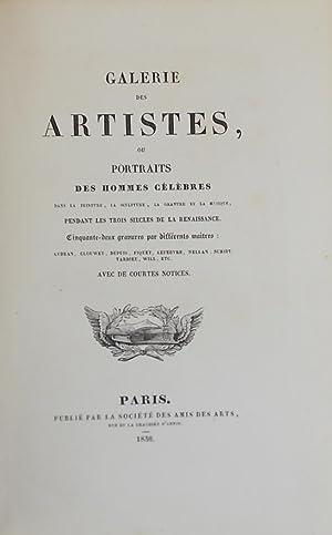 Galerie des artistes, ou portraits des hommes célèbres dans la peinture, la sculpture...