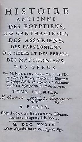 Histoire ancienne des Egyptiens, des Carthaginois, des Assyriens, des Babyloniens, des Mèdes...
