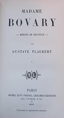Madame Bovary. Moeurs de Province.: FLAUBERT (Gustave)