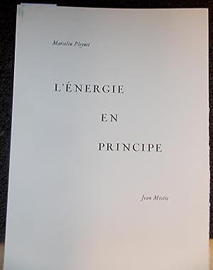 L'énergie en principe.: PLEYNET (Marcelin) & MIOTTE (Jean)