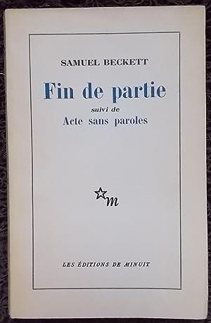 Fin de partie, suivi de Acte sans paroles.: BECKETT (Samuel)