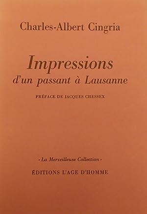 Impressions d'un passant à Lausanne.: CINGRIA (Charles-Albert)