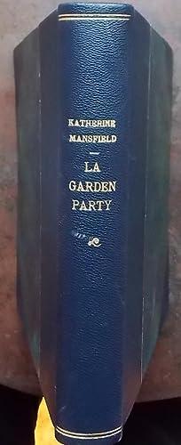 La Garden Party et autres nouvelles,: MANSFIELD (Katherine)