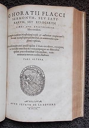 In Q. Horativm Flaccvm, Dionysii Lambini [.] commentarius locupletissimus. Sexta et postrema editio...