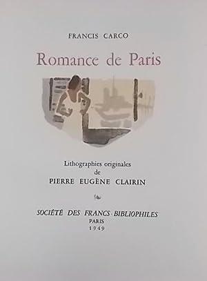 Romance de Paris.: CARCO (Francis)