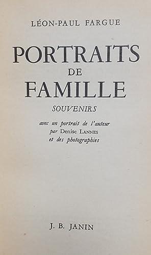 Portraits de famille.: FARGUE (Léon-Paul)
