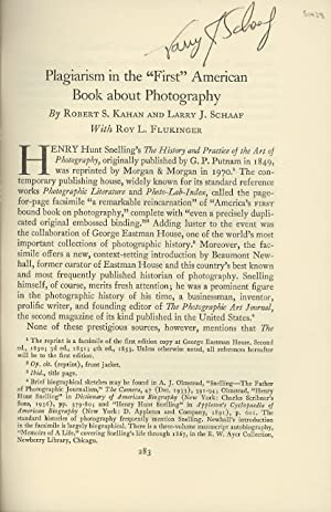 """PLAGIARISM IN THE """"FIRST"""" AMERICAN BOOK ABOUT: Kahan, Robert S."""