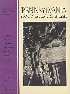 PENNSYLVANIA ARTS AND SCIENCES: Jayne, Horace H.F.,