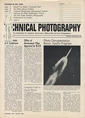 TECHNICAL PHOTOGRAPHY: THE PUBLICATION FOR INDUSTRIAL, MILITARY, AND GOVERNMENT STILL, CINE AND A...