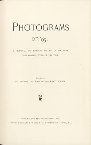 PHOTOGRAMS OF THE YEAR.; A PICTORIAL AND LITERARY RECORD OF THE BEST PHOTOGRAPHIC WORK OF THE YEAR