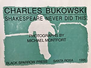 Shakespeare Never Did This: Bukowski, Charles