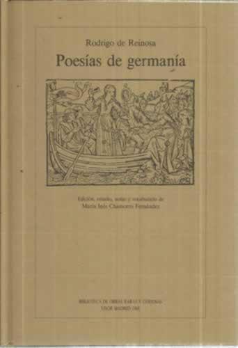 POESÍAS DE GERMANÍA - de Reinosa, Rodrigo