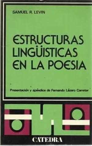 Estructuras lingüisticas en la poesia: R. Levin, Samuel