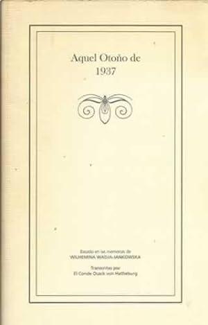 Aquel Otoño de 1937: VV. AA
