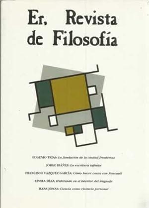 Revista de Filosofía Sevilla/Barcelona, nº28: Trías, Eugenio /